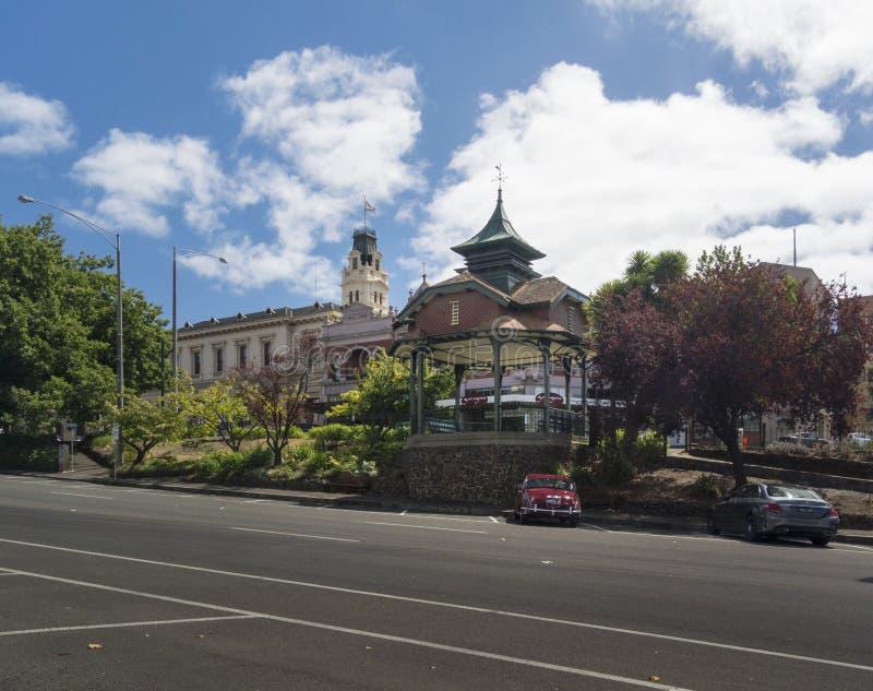 Tytaniczny Pamiątkowy Bandstand, Ballarat, Wiktoria, Australia fotografia royalty free