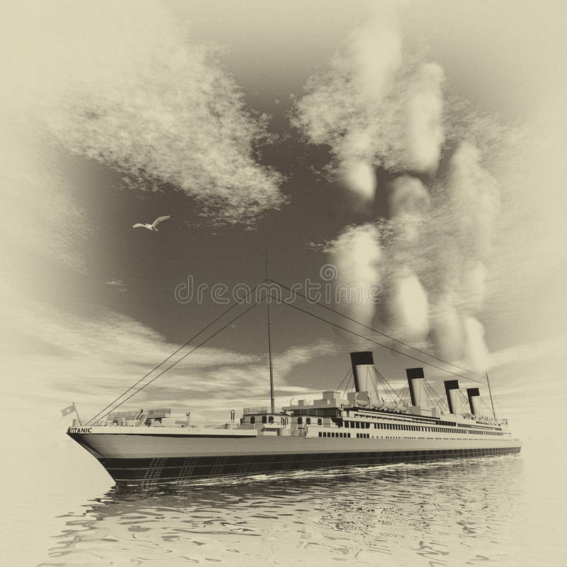 Tytaniczny statek - 3D odpłacają się royalty ilustracja