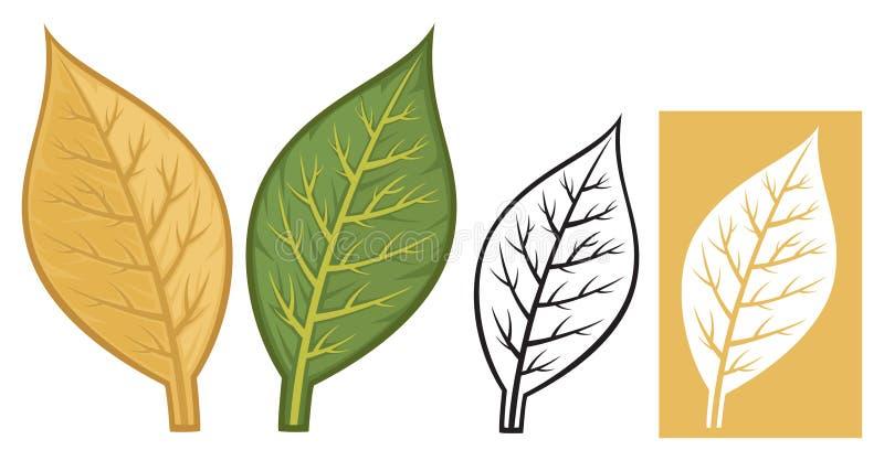 Tytoni liście ilustracja wektor