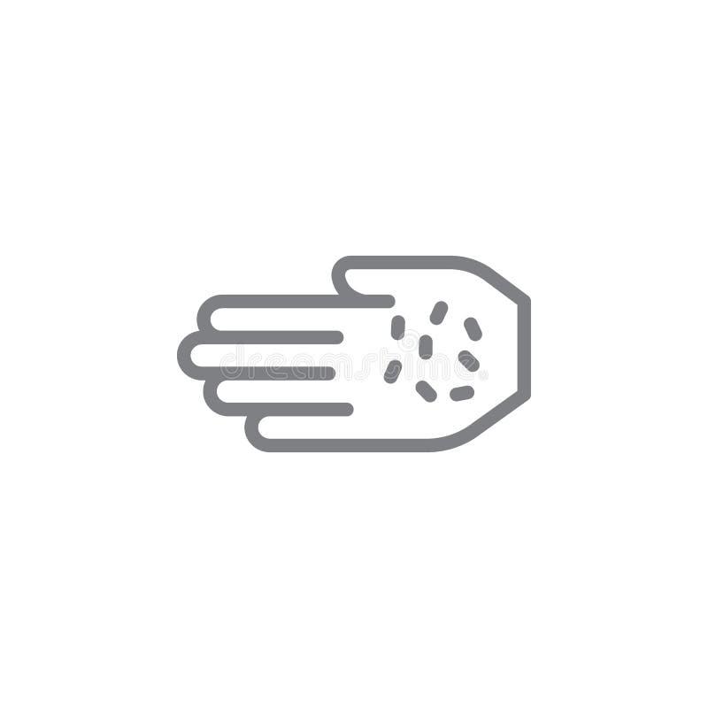 Tytoniu i ręki konturu ikona Elementy dymienie aktywno?? ilustracji ikona Znaki i symbole mog? u?ywa? dla sieci, logo, ilustracji