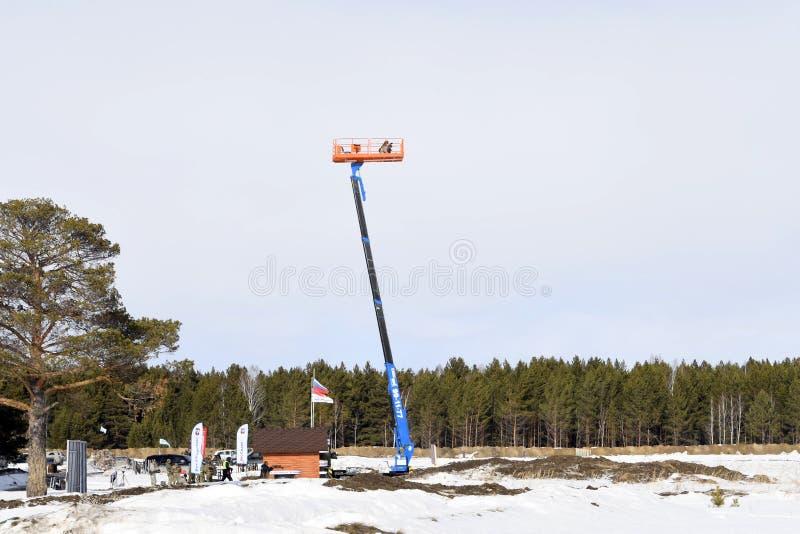 Tyumen, Ρωσία, στις 15 Μαρτίου 2019, ανταγωνισμός των ελεύθερων σκοπευτών στοκ φωτογραφία με δικαίωμα ελεύθερης χρήσης