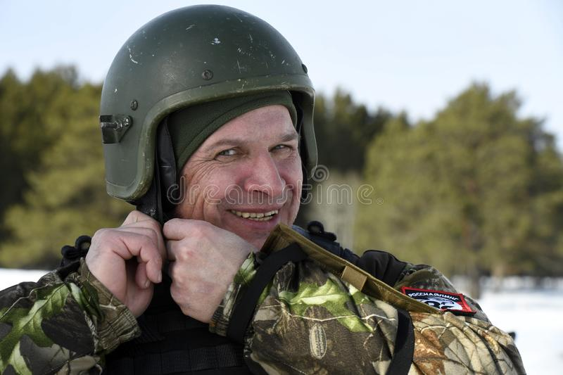 Tyumen, Ρωσία, στις 15 Μαρτίου 2019, ανταγωνισμός των ελεύθερων σκοπευτών στοκ εικόνες