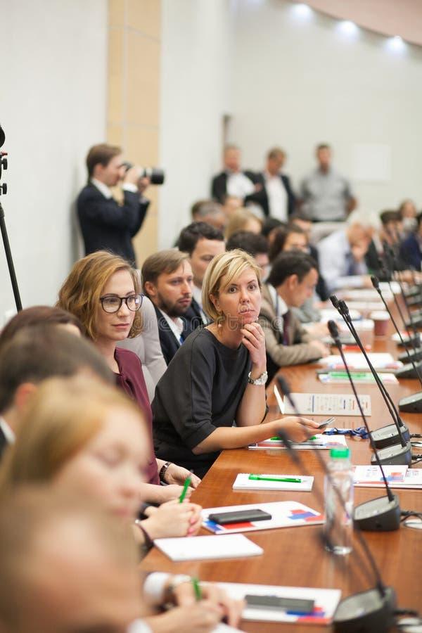 Tyumen, Ρωσία, 09 07 2016 Φόρουμ των καινοτόμων τεχνολογιών Επιστήμονες, πολιτικοί και επιχειρηματίες επικοινωνίας στοκ φωτογραφία