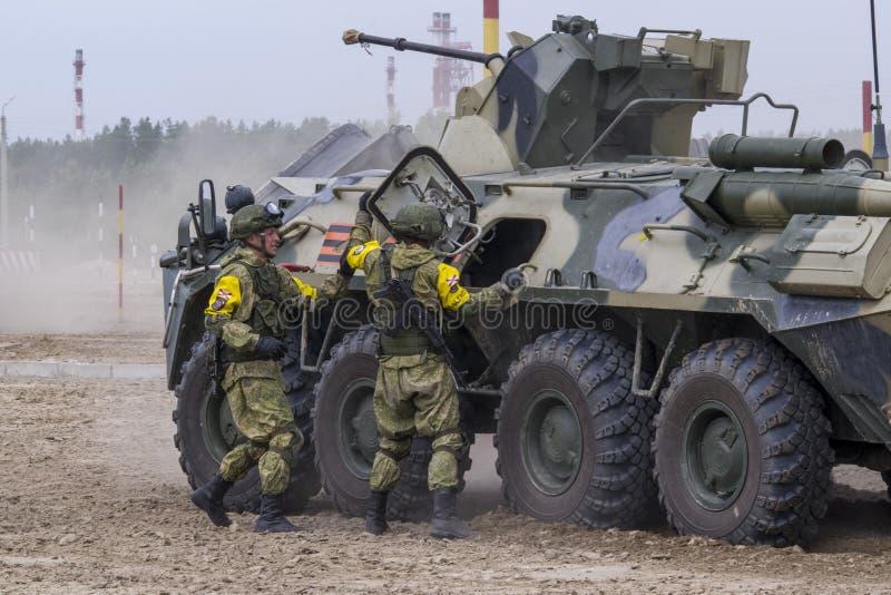 Soldiers On Ground With Machine Gun Editorial Photo - Image