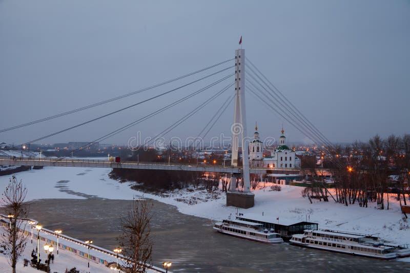 Download Tyumen, Russland - 5. November 2016: Winternachtlandschaft Mit A Redaktionelles Bild - Bild von fluß, dekor: 90226385