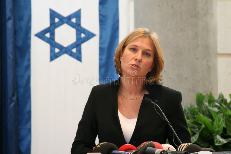 Tzipi Livni na conferência fotos de stock royalty free