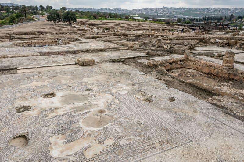 Tzipori考古学站点 免版税库存照片