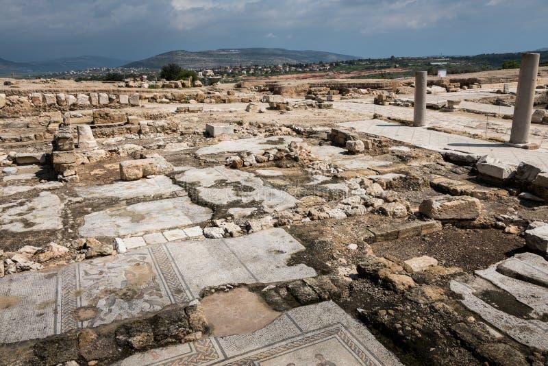 Tzipori考古学站点 库存图片