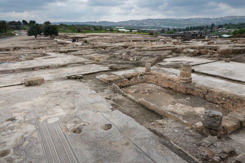 Tzipori考古学站点 免版税图库摄影