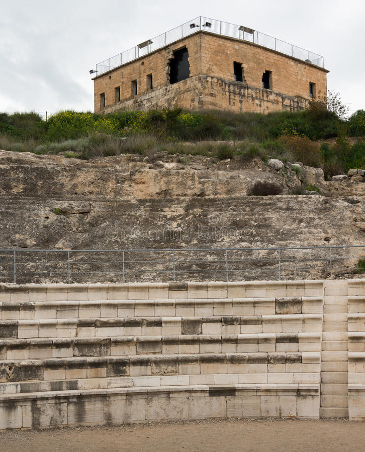 Tzipori考古学站点 库存照片