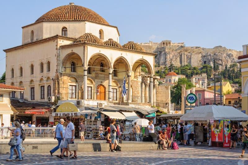 Tzistarakismoskee - Athene royalty-vrije stock afbeelding