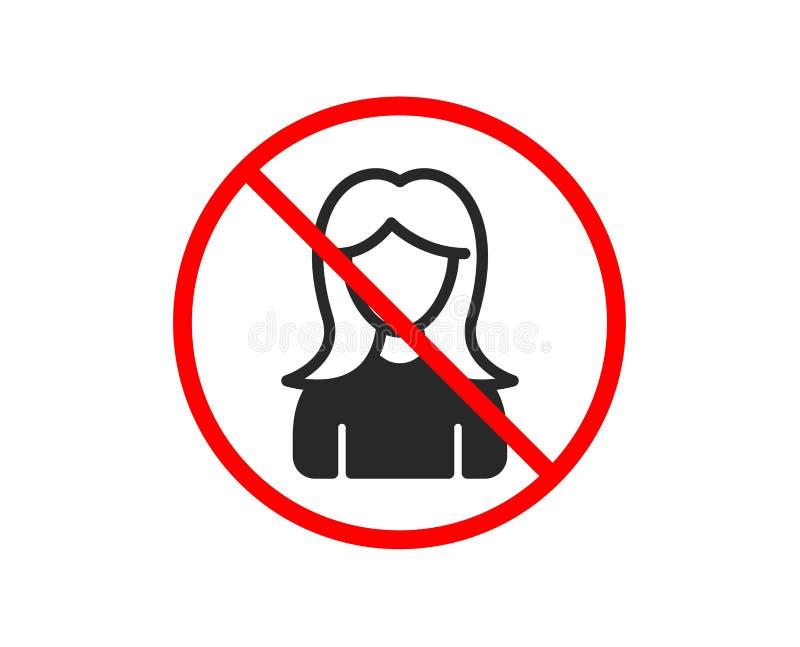 Użytkownik ikona Kobieta profilu znak wektor ilustracja wektor