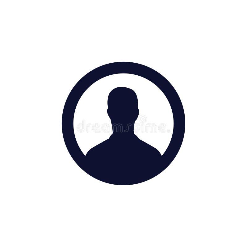 Użytkownik ikona również zwrócić corel ilustracji wektora profilu obrazka ikona royalty ilustracja