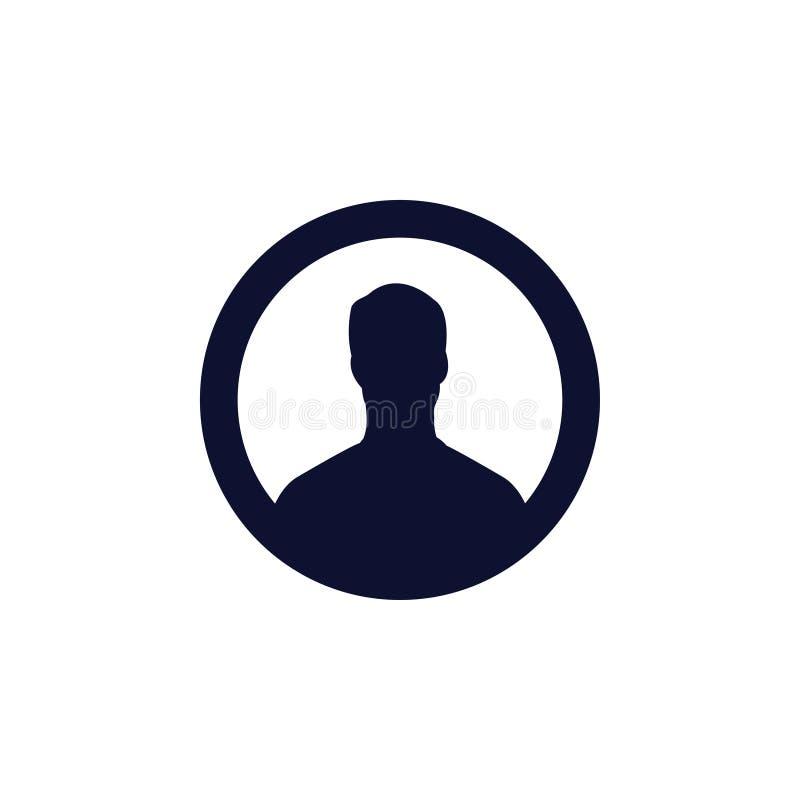 Użytkownik ikona również zwrócić corel ilustracji wektora profilu obrazka ikona ilustracja wektor