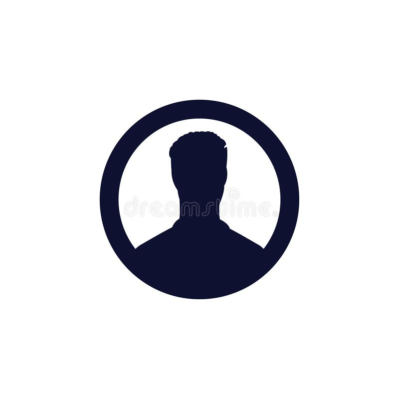Użytkownik ikona również zwrócić corel ilustracji wektora profilu obrazka ikona ilustracji