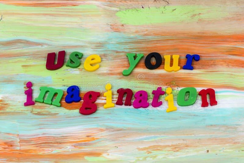 Używa wyobraźnia wzroku pomysłu głosu pomocy klingeryt ilustracja wektor