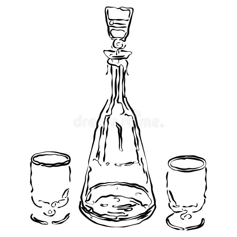Uísque ilustração stock