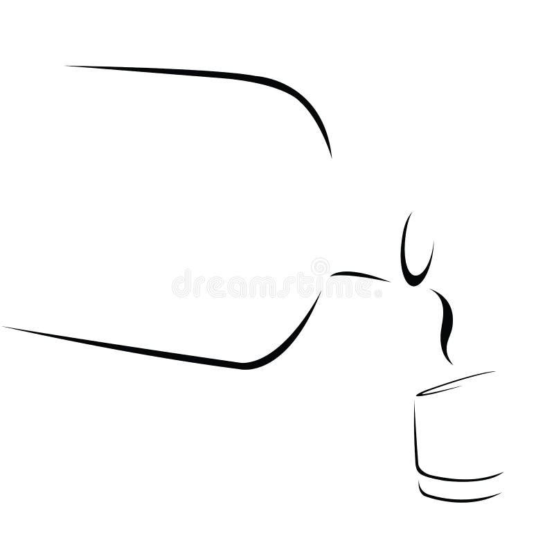 Uísque, sumário ilustração do vetor
