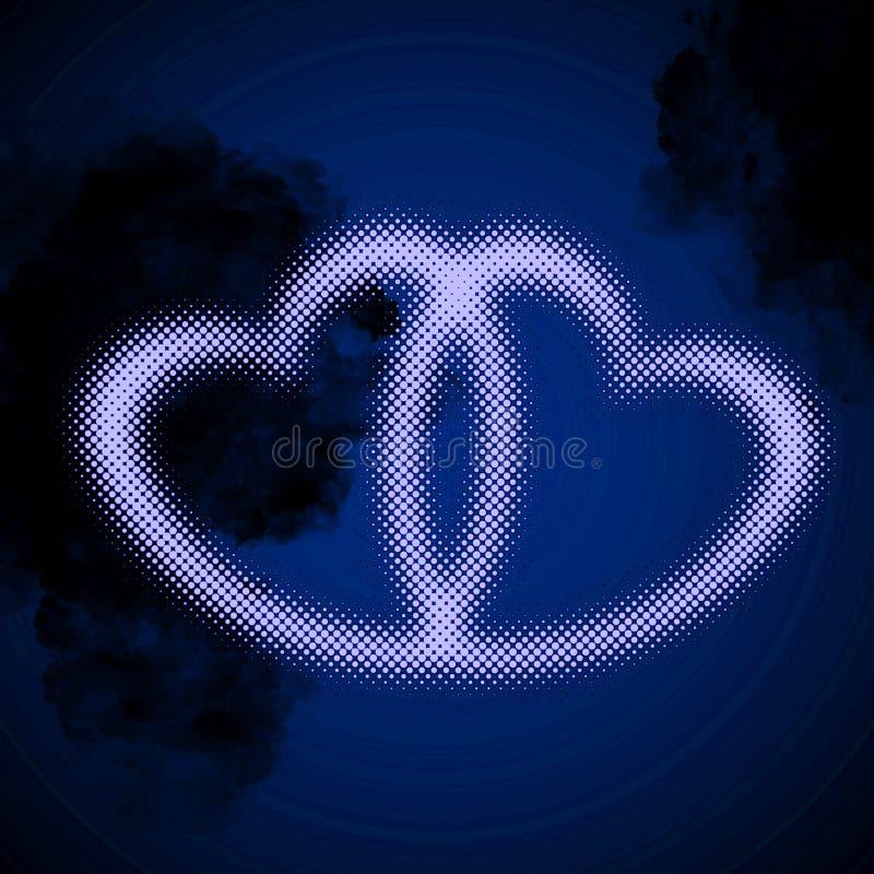 Uña del pulgar entrelazada de los corazones libre illustration
