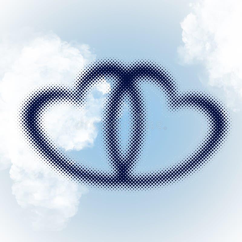Uña del pulgar entrelazada de los corazones ilustración del vector