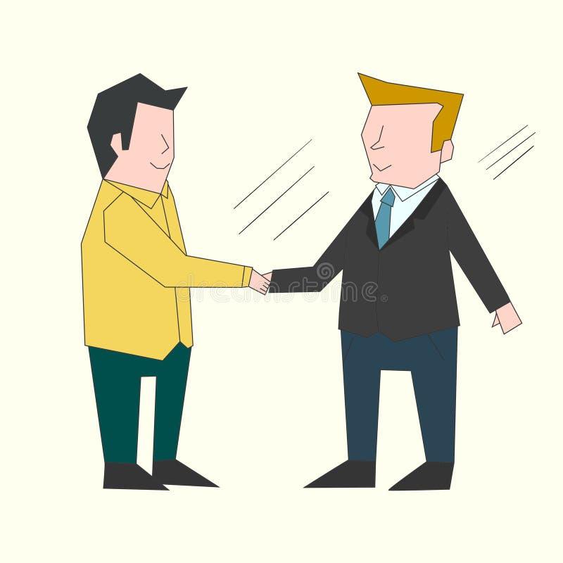 Uścisków dłoni biznesmenów koloru ilustracja ilustracji