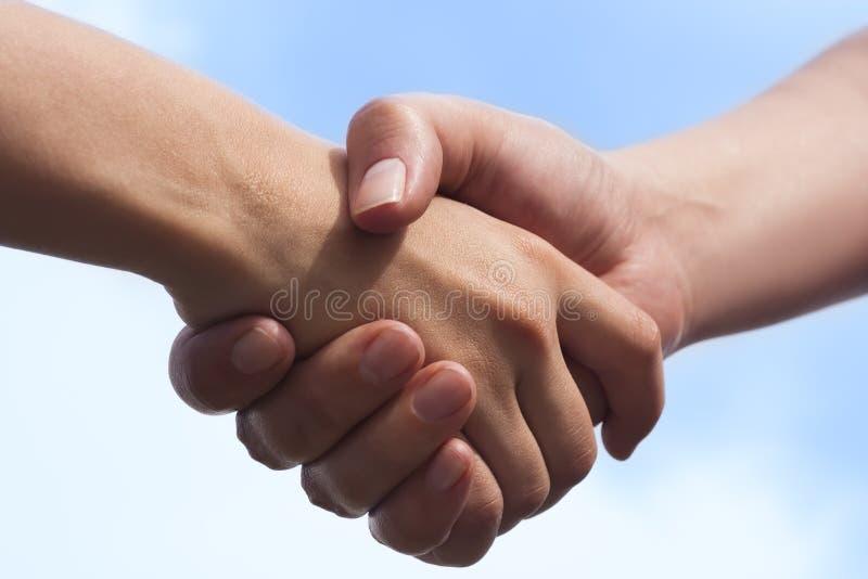 uścisk dłoni zdjęcia stock