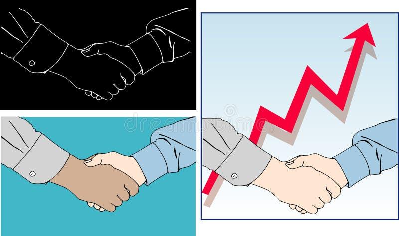 uścisk dłoni ilustracji