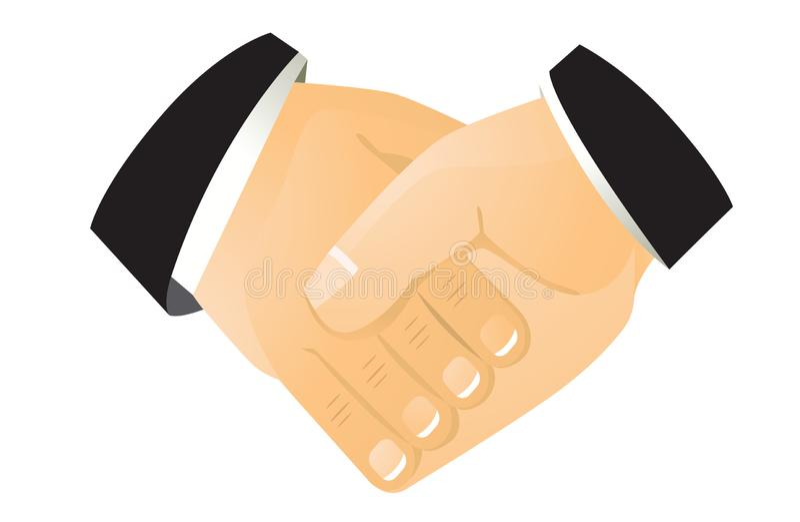 Uścisk dłoni, biznesmeni robi transakci ilustracji
