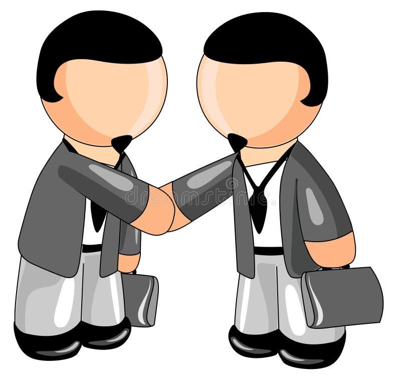 uścisk dłoni biznesowi ludzie ilustracja wektor