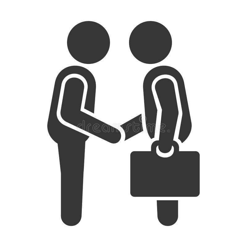 Uścisk dłoni biznesowi mężczyzna wektor ilustracji