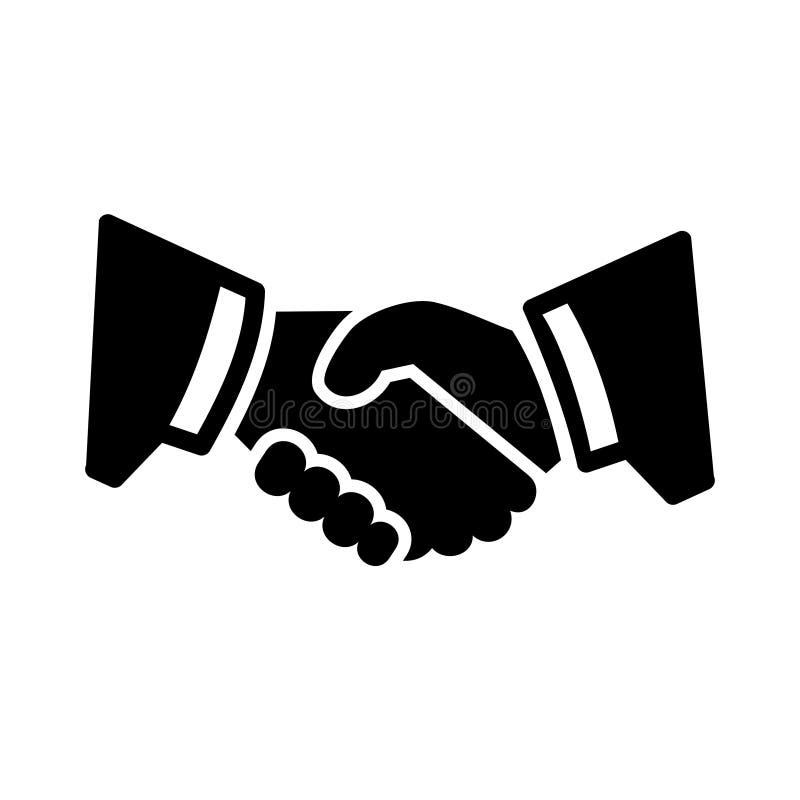Uścisk dłoni ikona ilustracji