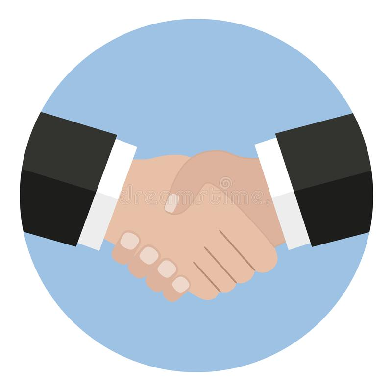 Uścisk dłoni ikona Trząść ręki, zgoda, dobra transakcja, partnerstw pojęcia ilustracji