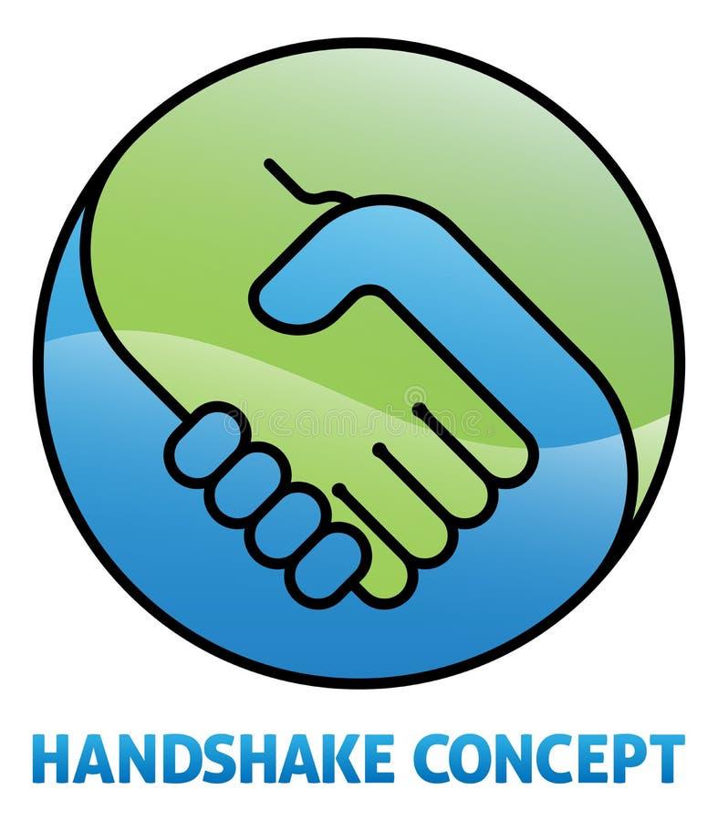 Uścisk dłoni ikony pojęcie ilustracja wektor