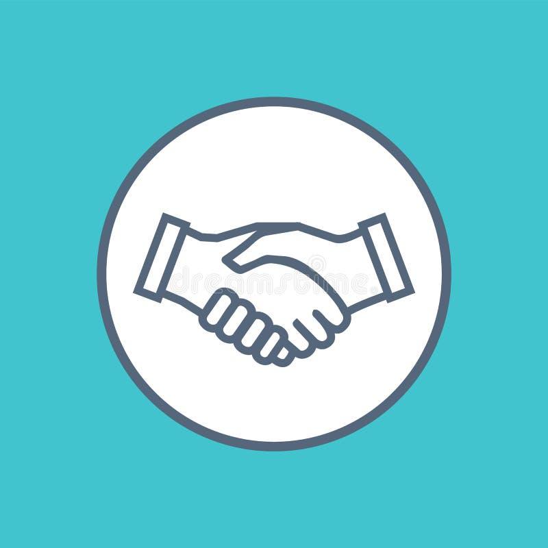 Uścisk dłoni ikony symbol współpracy partnerstwo ilustracji