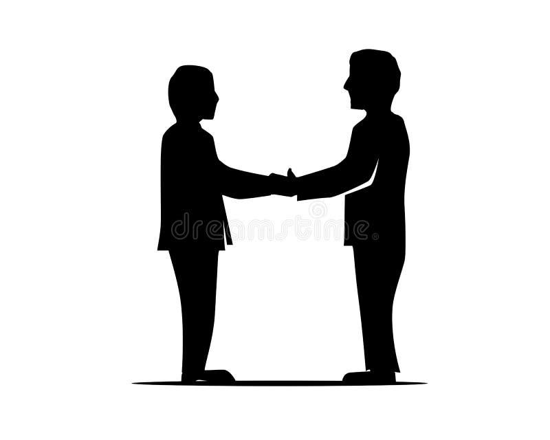 Uścisk dłoni ilustracja royalty ilustracja