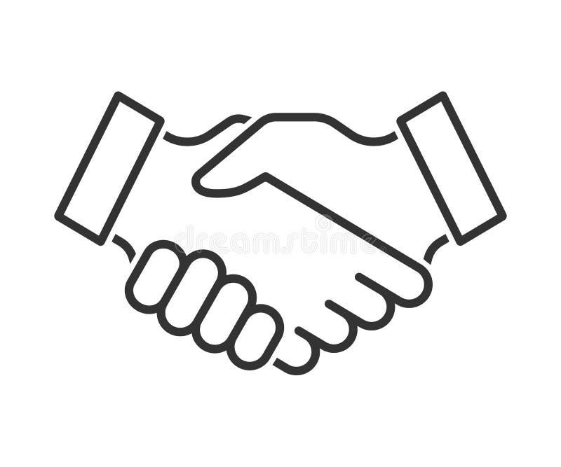 Uścisk dłoni kreskowa ikona ilustracji