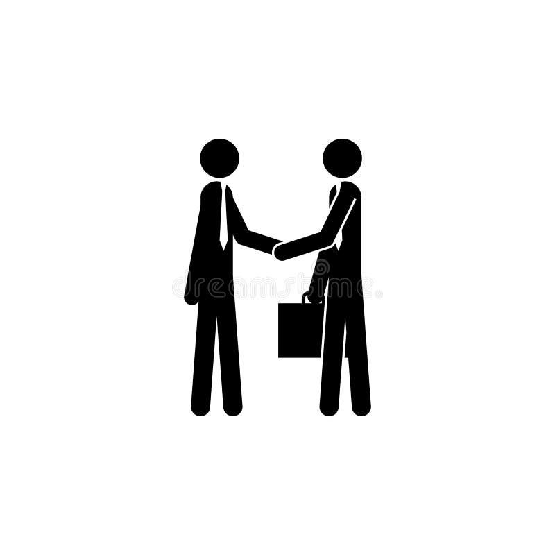 Uścisk dłoni partner biznesowy ikona Element ludzie przy pracy ikoną dla mobilnych pojęcia i sieci apps Szczegółowy uścisk dłoni  ilustracji