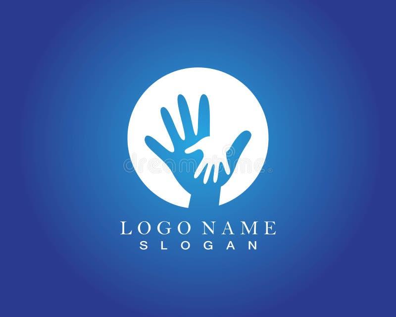 Uścisk dłoni praca zespołowa Wręcza logo wektor ilustracji