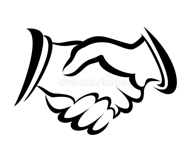 Uścisk dłoni symbol royalty ilustracja