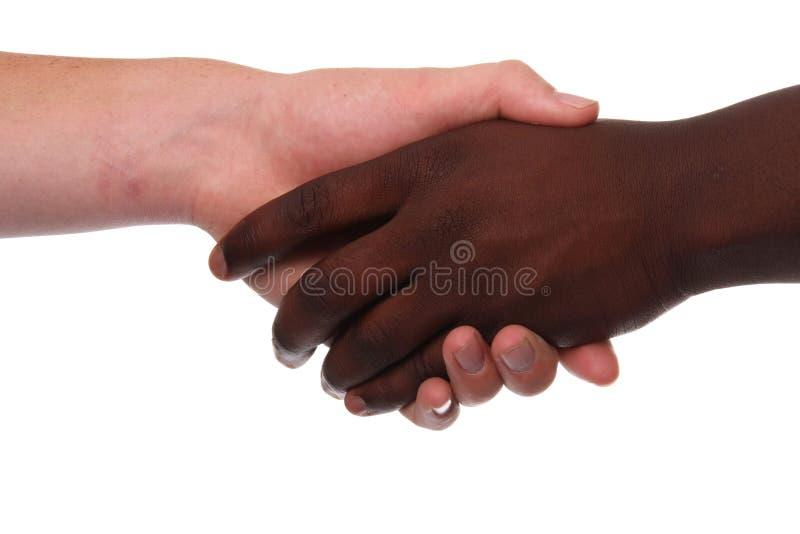uścisk dłoni wielorasowy zdjęcie royalty free