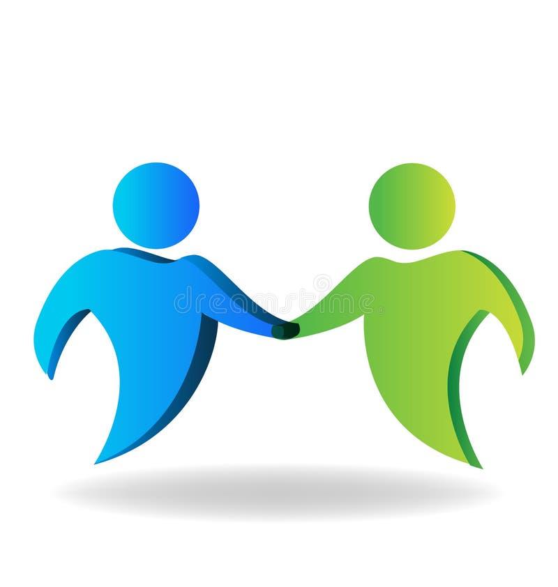 Uścisk dłoni współpracuje biznesowych przyjaciół wektorowych ilustracji