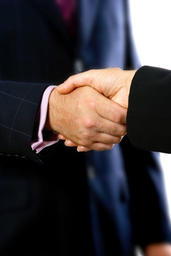 uścisk dłoni zabezpieczone zdjęcie royalty free