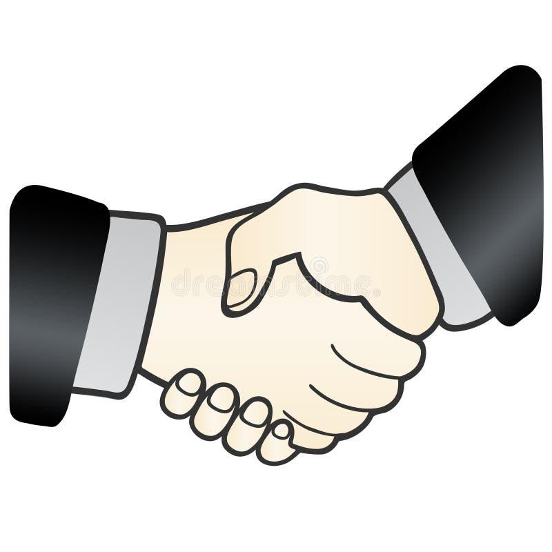 Uścisk dłoni. znak zgoda ilustracja wektor