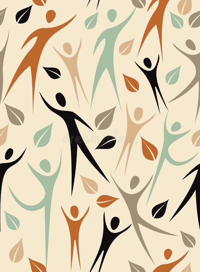 Uścisk różnorodności Bezszwowy wzór ilustracji