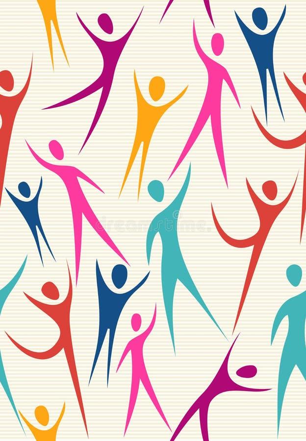 Uścisk różnorodności wzoru bezszwowy set ilustracja wektor