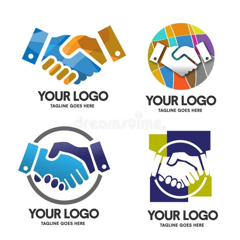 Uścisku dłoni logo ilustracji