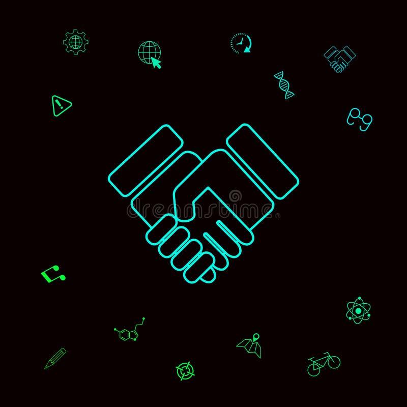 Uścisku dłoni symbolu ikona Graficzni elementy dla twój designt ilustracji