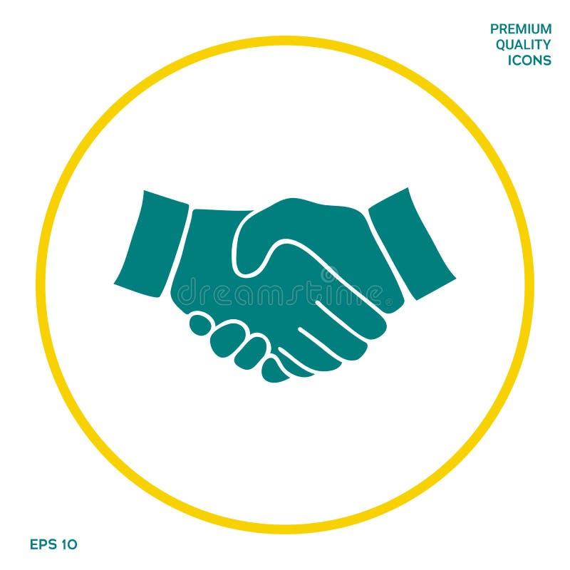 Uścisku dłoni symbolu ikona Graficzni elementy dla twój projekta ilustracja wektor