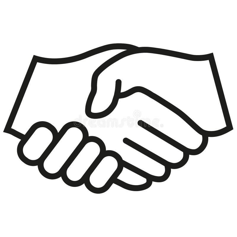 Uścisku dłoni wektoru ikona Czarna ilustracja odizolowywająca dla grafiki i sieci projekta ilustracja wektor