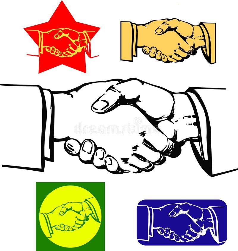 uścisnąć ręki ilustracja wektor